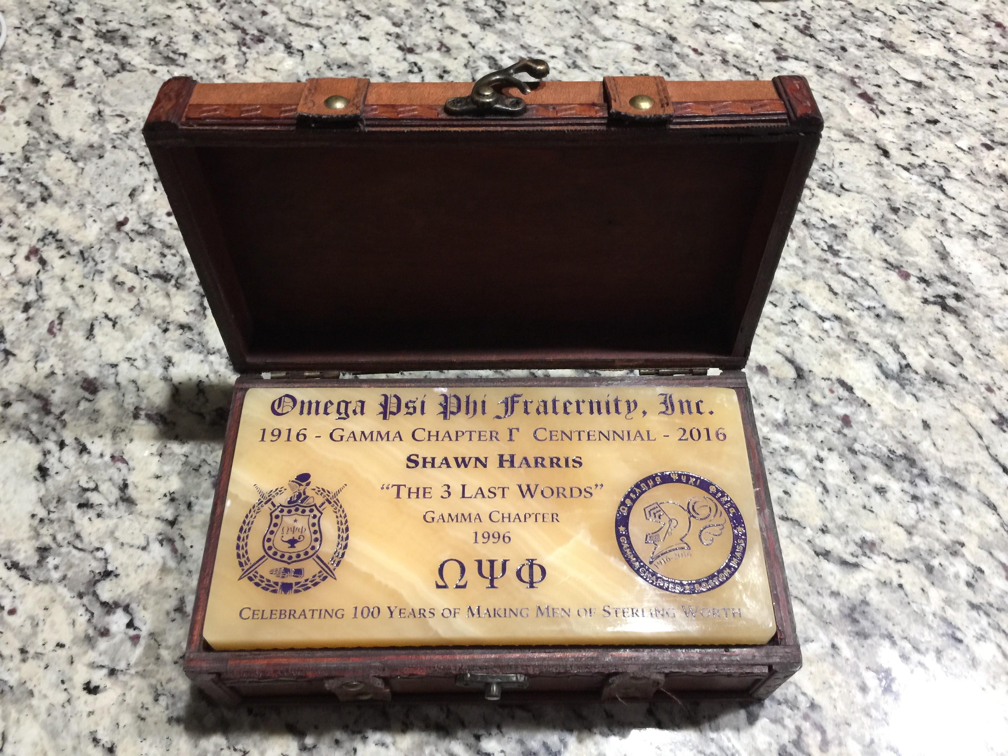 Custom Engraved Commemorative Gamma Gold Brick